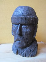Antik fafaragás, 30 cm. nehéz keményfa.