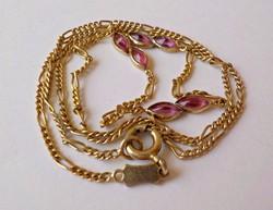Régi orosz aranyozott ezüst nyaklánc