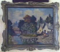 Benedek György 1934- festmény, olaj, vászon