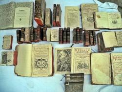 Antik könyvek 1614-től...NINCS MINIMÁLÁR !!!!