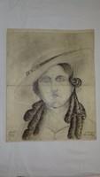 Wanek S. Ferenc Női arckép 1918