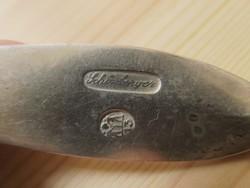 Antik 13 latos bajai ezüst evőkanál