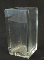 Art deco üveg négyzet alaku váza/iroszertarto