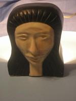 U13 Art decó Bauhaus szobor fej alul jelzett világítással  is  igazi gyűjtői ritkaság