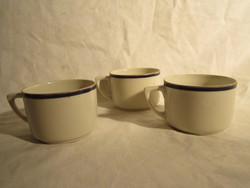 3db régi Zsolnay kávés csésze