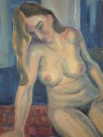 Ruttkay György (1898 – 1975) : Ülő akt