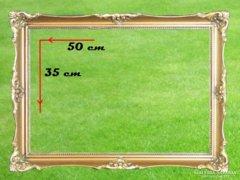 0A606 Antik blondel képkeret 35 x 50 cm