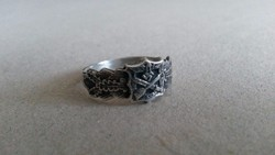 Nahkampfspange Ezüst gyűrű