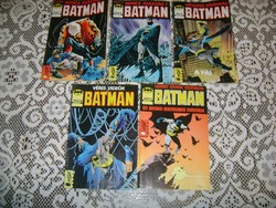 Öt darab 1990-es BATMAN képregény