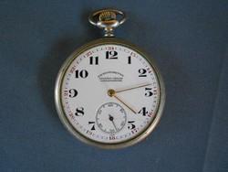 Chronometre ezüst zsebóra.