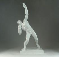 0N525 Hatalmas herendi súlylökő olimpikon 41 cm