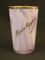 Máriagyüdi üveg emlékpohár