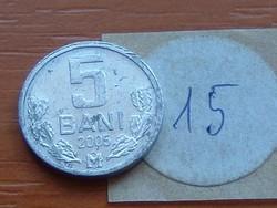 MOLDOVA  MOLDÁVIA 5 BANI 2005 15.