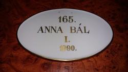 Herendi Anna báli plakett 1990