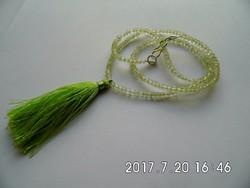 Zöld ametiszt nyaklánc