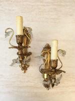 Kastélyba illő bronz falikarok, csillarok, gyertyatartók