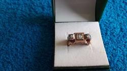 14K 585-ös gyönyörű antik női gyémántgyűrű!Garanciával!