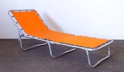 0M269 Retro alumínium gyerek kemping ágy 130 cm