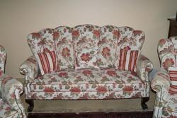 Ónémet oroszlánlábas legyező alakú kanapé