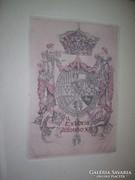 De Riquer XIII. Alfonz ex librise rézkarc erotikus