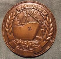 Magyar Hajó és Darugyár 1835 bronz emlékérem