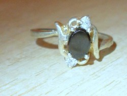 Éjfekete fényű Cz.köves Silver Plated Gyűrű