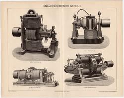 Dinamoelektromos gépek I., Pallas nyomat 1895, eredeti, antik, régi, dinamó, elektromos, Siemens