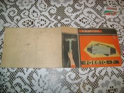 Rakéta porszívó használati utasítás - 1966