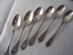 Szecessziós ezüst kávéskanalak