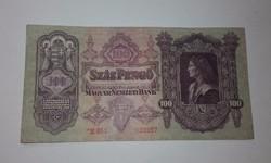 100 Pengő,Csillagos 1930-as ropogós nagyon szép állapotban!