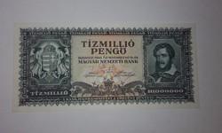 Tizmillió Pengő 1945-ös hibátlan hajtatlan UNC  bankjegy !!