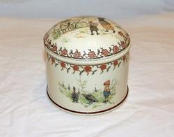 Antik ritka Sarreguemines fajansz doboz