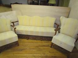 Szalongarnitúra 3-as kanapé + 2 fotel