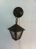 Kovácsoltvas fali lámpás / fali lámpa / éjjeli lámpa