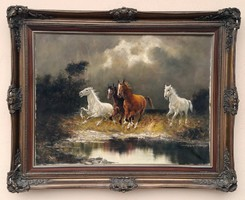 W. Kolb: Vágtató lovak