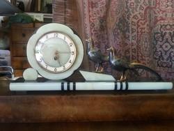 Csodálatos Francia ART DECO márvány óra, kandalló óra