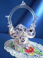 Nagyon szép Muránói üveg kosár
