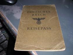 Deutsches Reich Reisepass/ Német birodalom. Útlevél