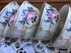 Szépséges rózsás Ilmenau teáscsészék