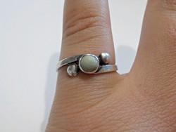 Régi ezüst gyűrű zöld türkiz kővel