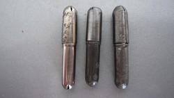 Régi irónbetét, ceruza bél, 3 db fém kapszulában