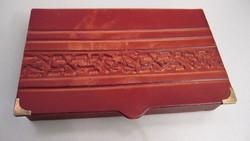 Bőr tároló doboz nyomott mintával