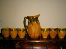 Boros  kerámia készlet - Kancsó+ 6 pohár