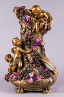 Hatalmas antik Amphora Austria váza puttókkal