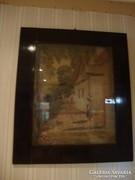 Öreg olaj-vászon festmény
