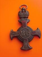 Régi jelvény kitüntetés FJ 1849
