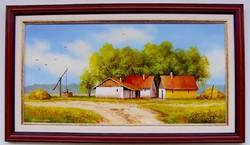 Pipacsos tanya KERETEZETT Obermayer festmény
