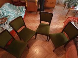 Mohazöld retro kárpitos székek
