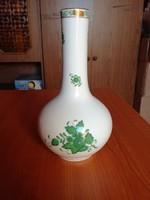 Herendi zöld Apponyi mintás porcelán váza 22 cm