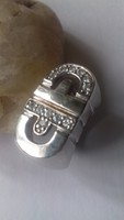 Ezüst gyűrű,RENGETEG CIRKONNAL!!!!!